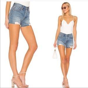 NWT Free People Sofia High Rise Denim Shorts